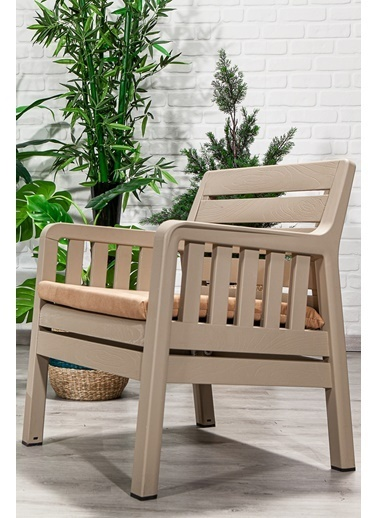 Sandalie Lara 1+1+S Balkon&Teras&Bahçe Mobilyası / Cappucino Kahve